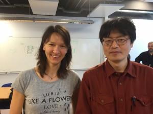 ポーランド Space Research Centreの機構技術者 Marta Tokarzさんと。